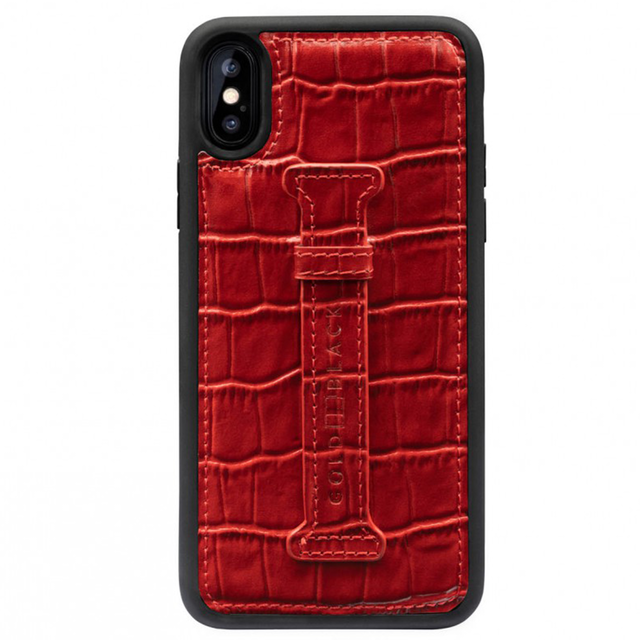 ゴールドブラック(GOLDBLACK) X / XS FINGER-HOLDER CASE CROCO RED