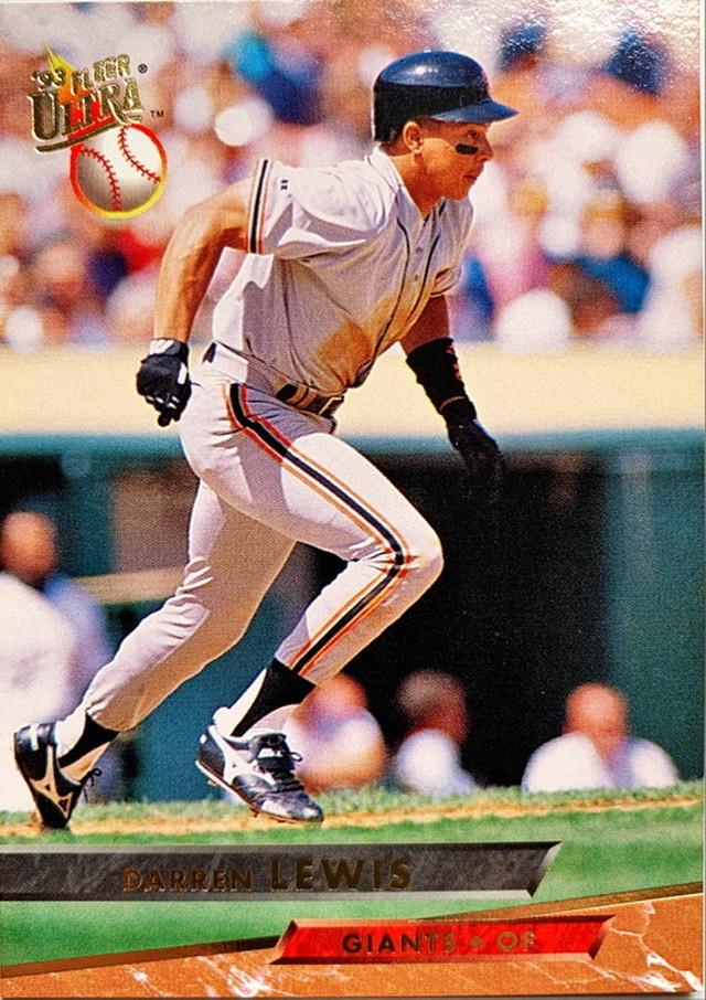 MLBカード 93FLEER Darren Lewis #134 GIANTS
