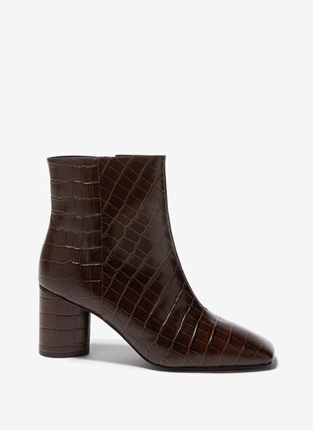 ANKLE BOOTS WITH SQUARED TOE