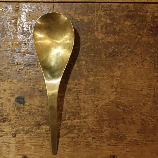 brass bowl spoon | 真鍮ボウルスプーン