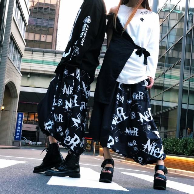 TWO-TONE SARROUEL PANTS(秋用)