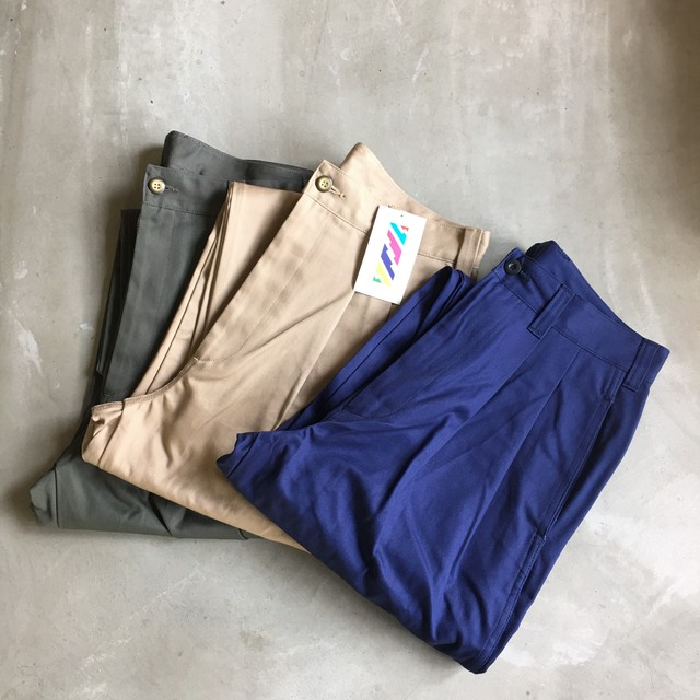 is-ness イズネス / AH EDITORIAL WIDE 2TUCK CHINO PANTS