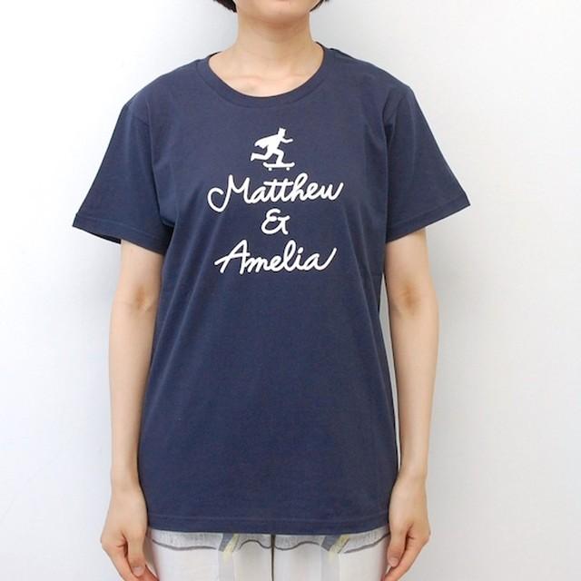 Matthew & Amelia LOGO Tee/Navy