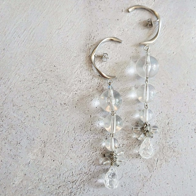 Crystal 変形ピアス Ear Jewelry