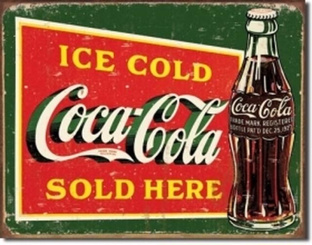 引続きセール主力商品20%OFF! コカコーラcoca Cola 1393【ブリキ看板】 【ティンプレート】