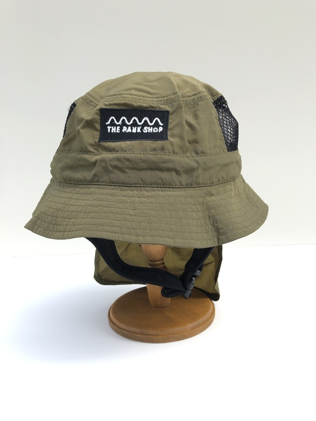 【21SS】THE PARK SHOP(ザ・パークショップ)WATERBOY HAT (KIDS )olive ハット 帽子