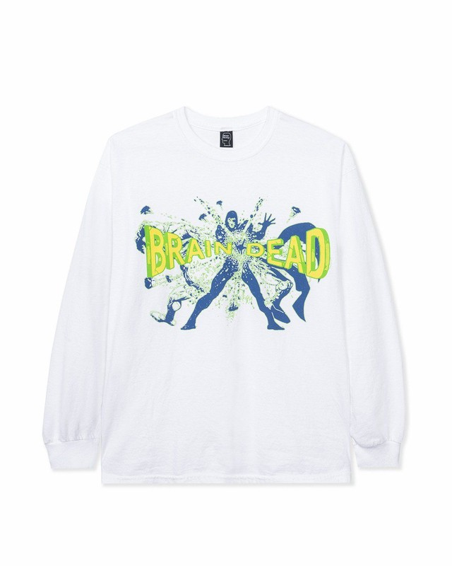 BRAIN DEAD BLAMMIN' LONG SLEEVE TEE - WHITE