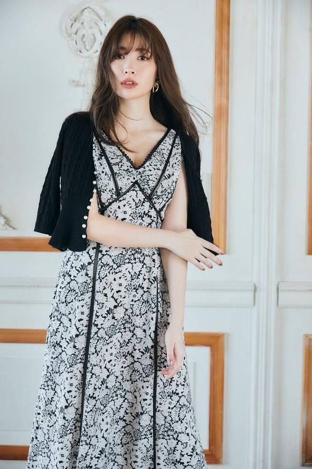 【新色】Lace Trimmed Floral Dress