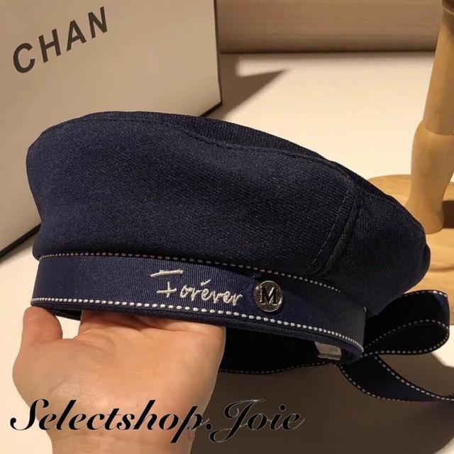 リボンメッセージフレンチベレー帽 6色展開
