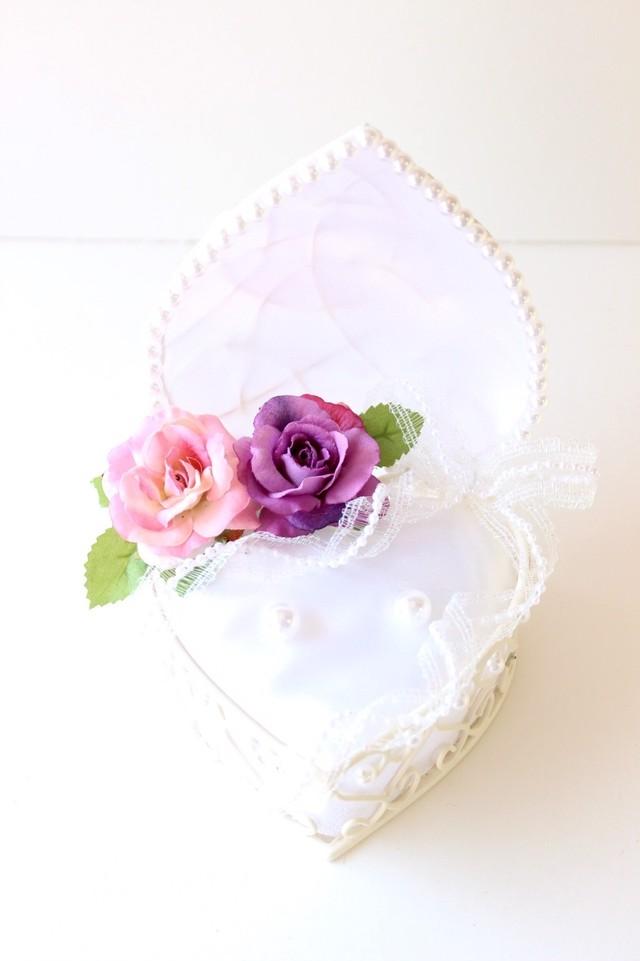 【受注制作】紫とピンクのリングピロー