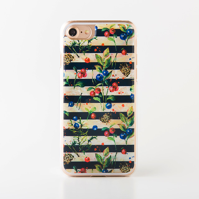 iPhone/Xperia/Galaxy スマホケース(パリの朝摘みベリー)[螺鈿アート・天然貝ケース]