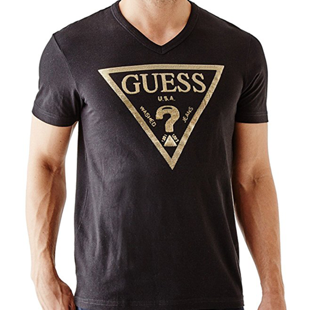 Guess Factory Los Angeles Crew Tee Black