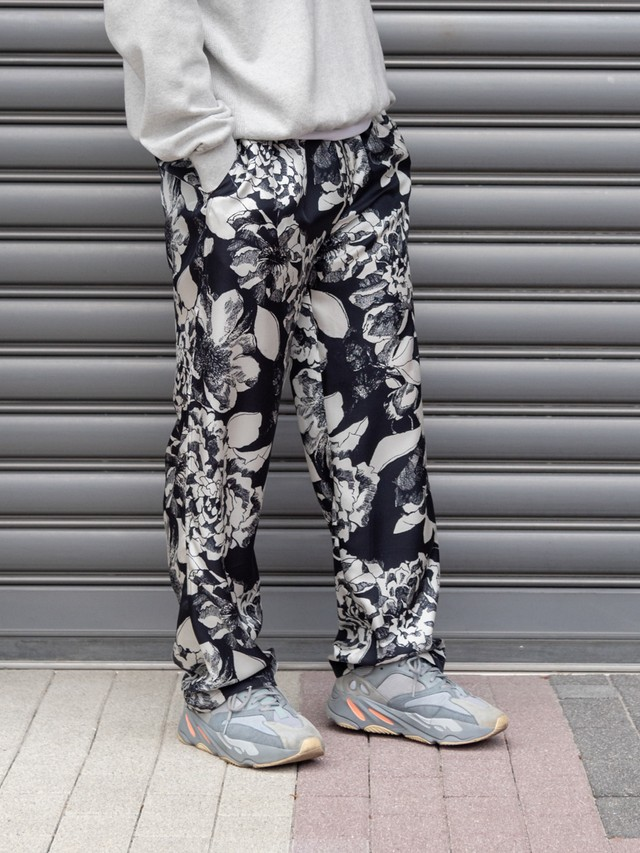 【BANANATIME】EASY PANTS:YOUTH BLOOM BLACK