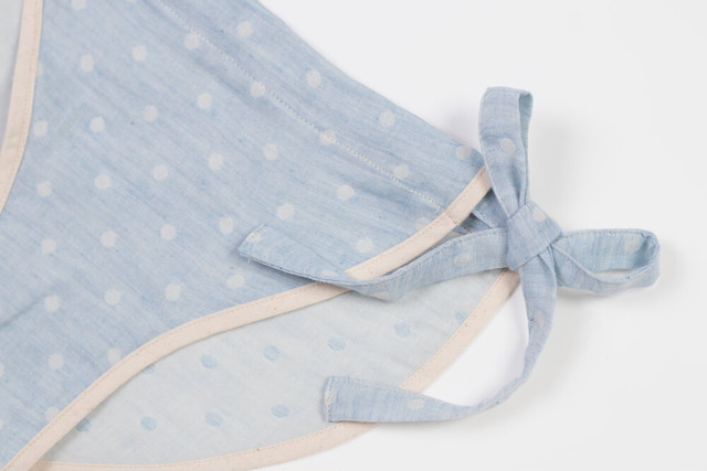 【Ladies'】ORGANIC COTTON ( dotted-blue )