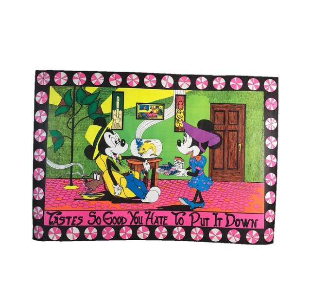 DISNEY【1960s】ミッキー ブラックライトポスター パロディ コレクティブル