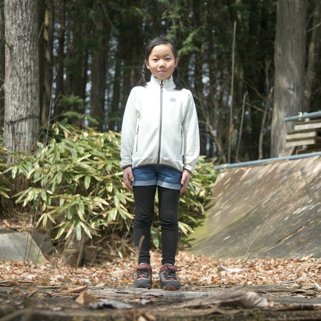 Kids 130 / UN2000 Light weight fleece Jacket / Cream