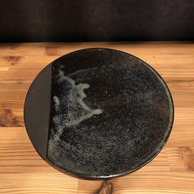 小代焼一先窯 月面盆皿大
