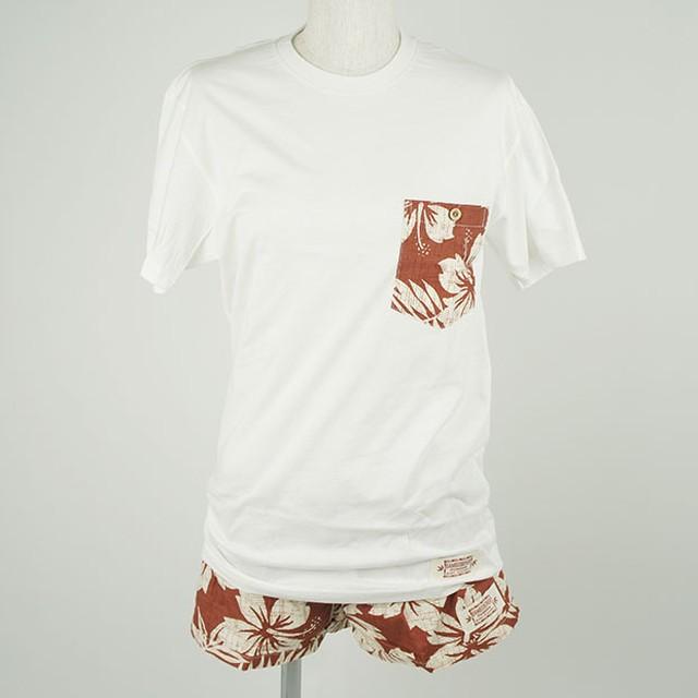 レディース Tシャツ&パンツセット レッド(サイズS)/Wahine-KA-PUA-W1113-2SET RE S