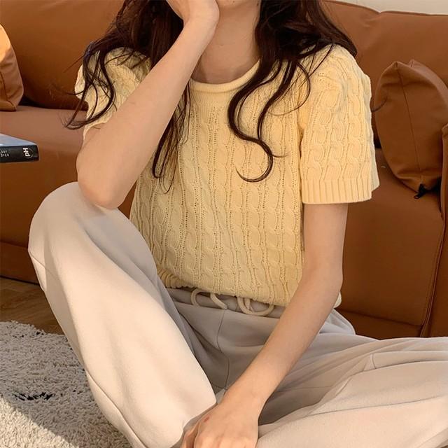 Pastel Knit Sweate(3color)
