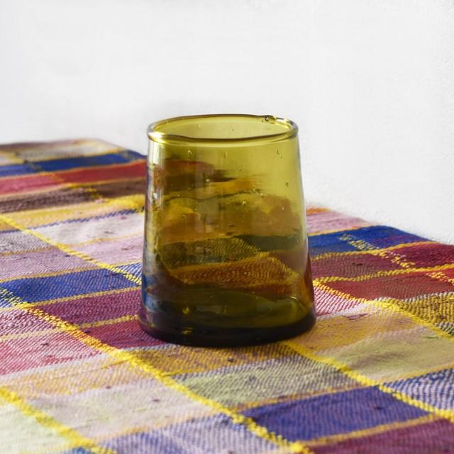 モロッコガラス タンブラー M / Amber