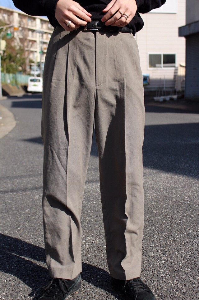 Simple Green Slacks Pants