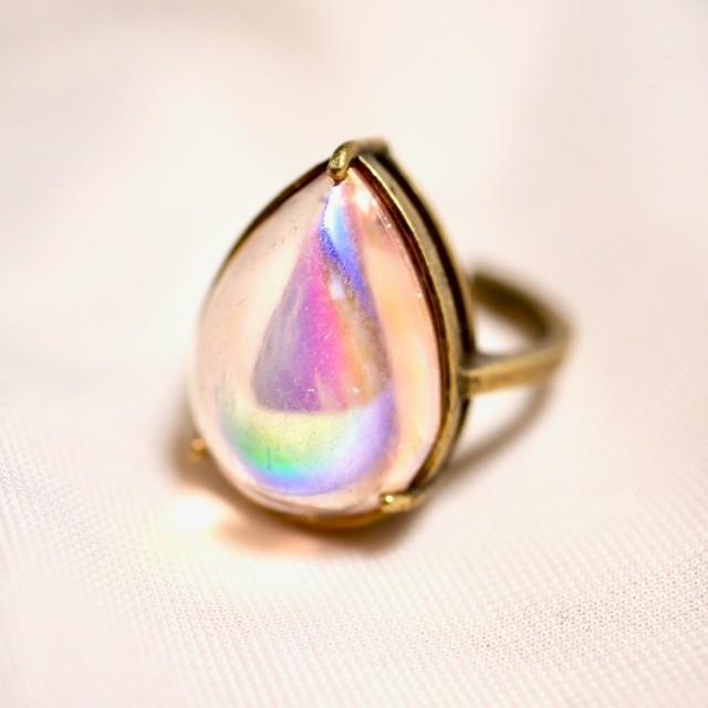 オーラピンクガラスリング(指輪)