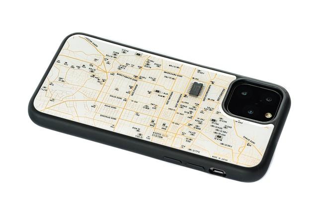 FLASH 京都回路地図 iPhone 11 Pro ケース  白【東京回路線図A5クリアファイルをプレゼント】