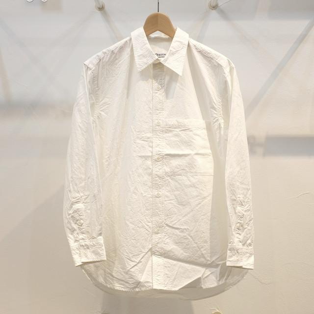 KUON(クオン) タイプライターセミロングシャツ ホワイト