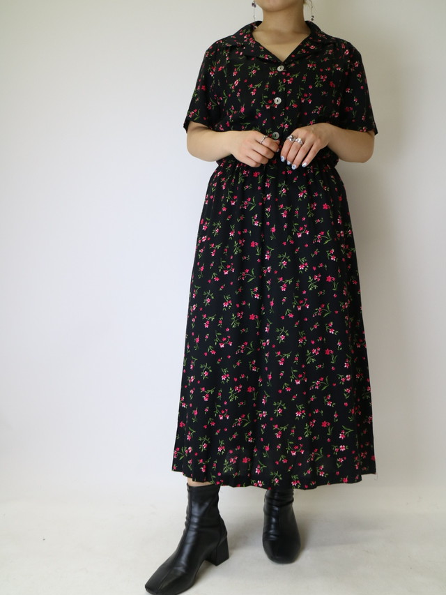 flower pattern dress【1121】