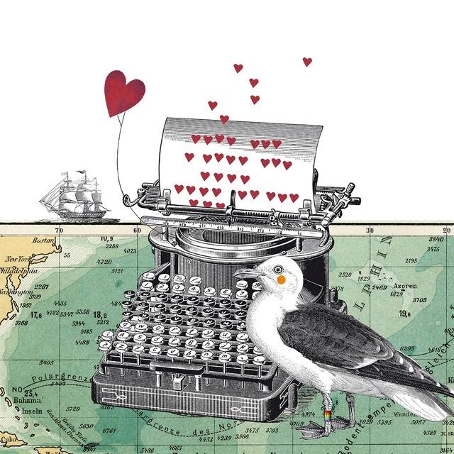 予約商品【Paperproducts Design】バラ売り2枚 ランチサイズ ペーパーナプキン Just Love You ホワイト