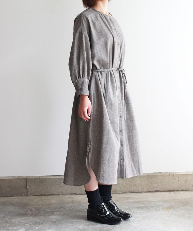 ツイード生地のドレスコート  グレー (evh603-GRY)
