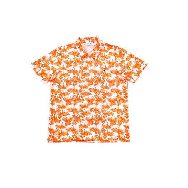 【 MEN`S 】サンゴクロス ポロシャツ 【やんばる ティーチくん 】(ORANGE)