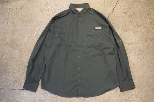 USED 00s Columbia PFG fishing L/S shirt  -XLargeS0574