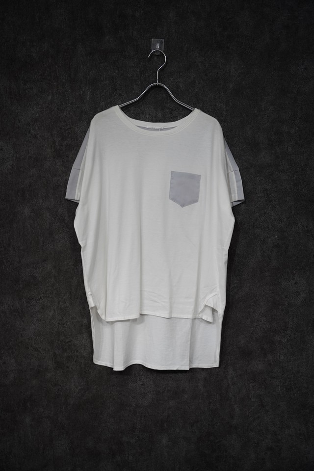 【2021緊急事態延長SALE】 keisuke yoneda back switch over Tee white