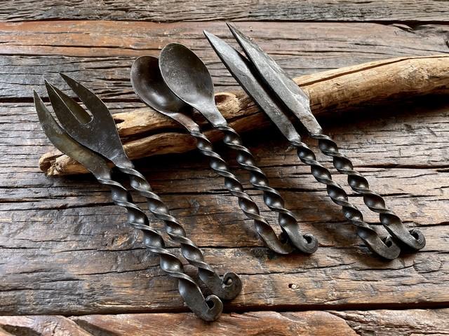 【2組セット】鍛造カトラリーセット(フォーク、ナイフ、スプーン)