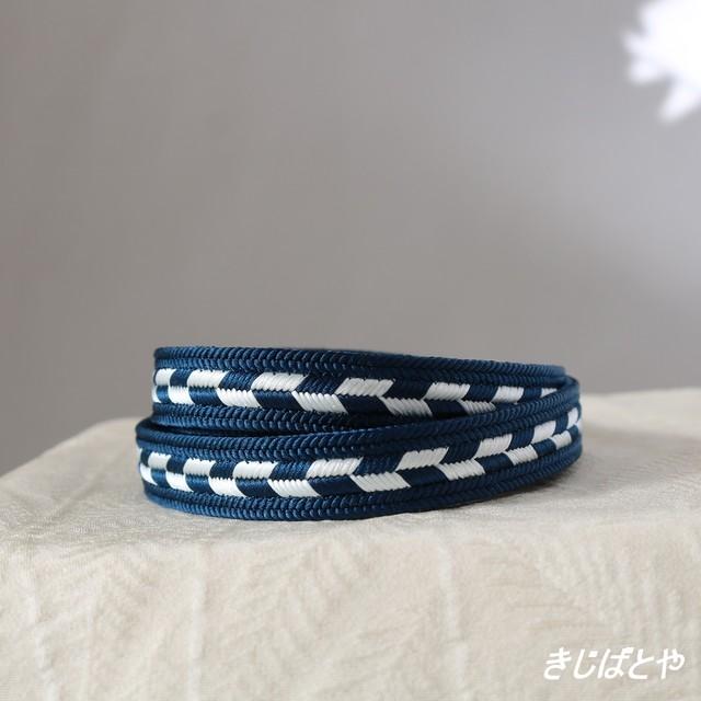 正絹 水色の丸組の帯締め