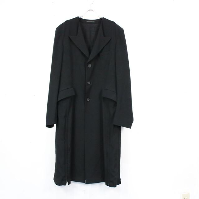 YOHJI YAMAMOTO POUR HOMME / ヨウジヤマモトプールオム   裾ジップデザインコート   ブラック