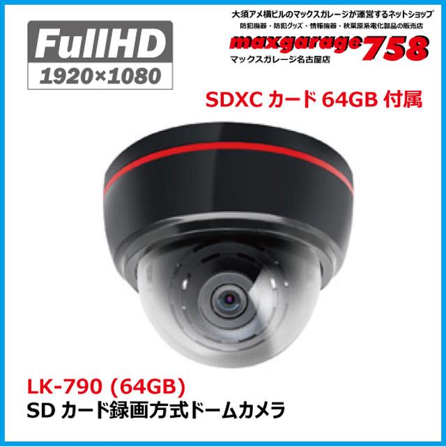 SDカード録画方式ドームカメラ   LK-790 (64GB)