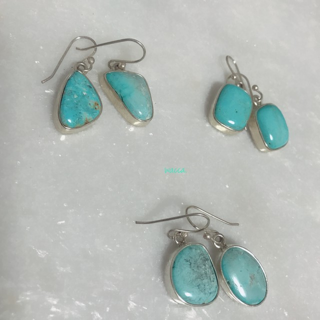 Natural Turquoise earings