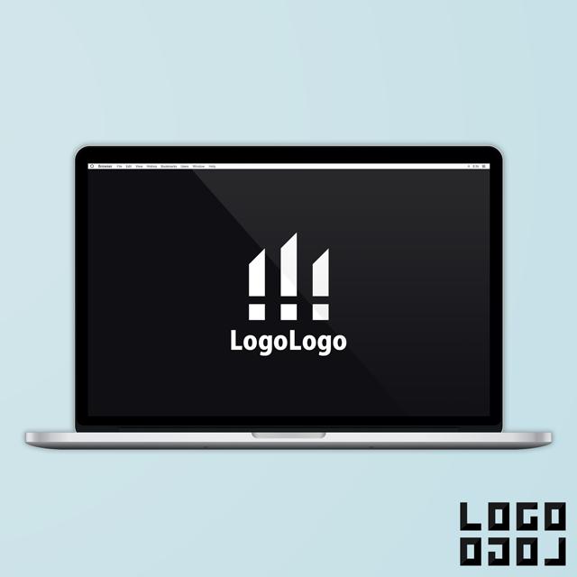 ロゴマークデザイン - スタイリッシュかつ自然の表現も可能な三本線デザインのロゴ