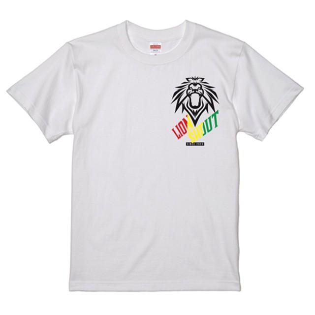 LION SHOUT Tシャツ【丸首(白)】