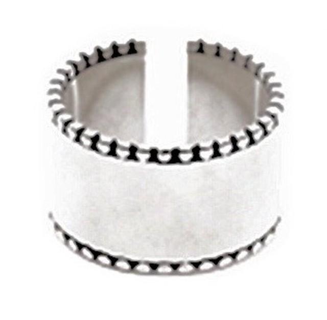 シンプル ワイド サイド デザイン タイプ オープンリング 指輪 メンズ レディース フリーサイズ トレンド 大ぶり シンプル アクセ