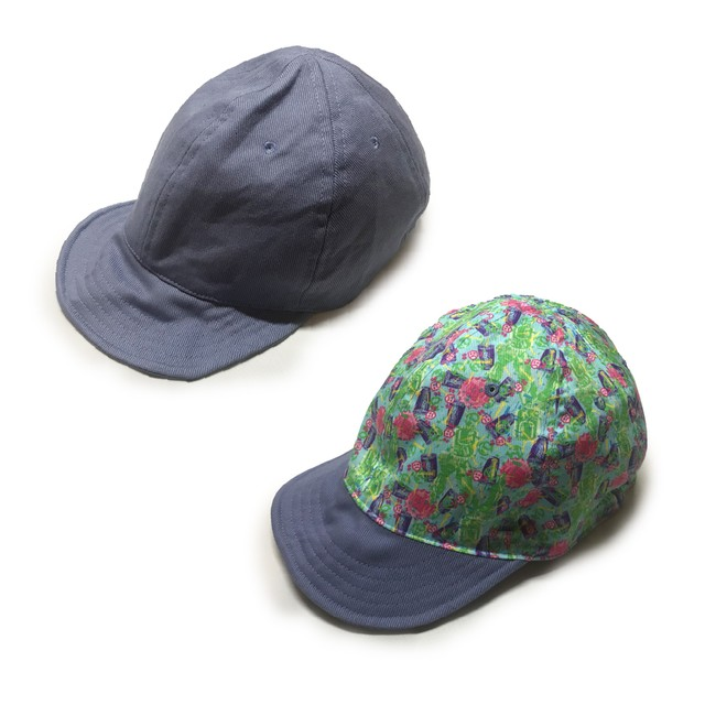 "【限定商品】dbstr×y.y.williams×とぅえるぶ REVERSIBLE UMPIRE CAP ""FLOATING OBJECTS"""