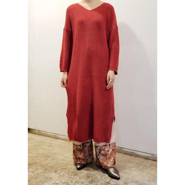 BADバッド・コットンロンゲージニットドレス(0W13011o)