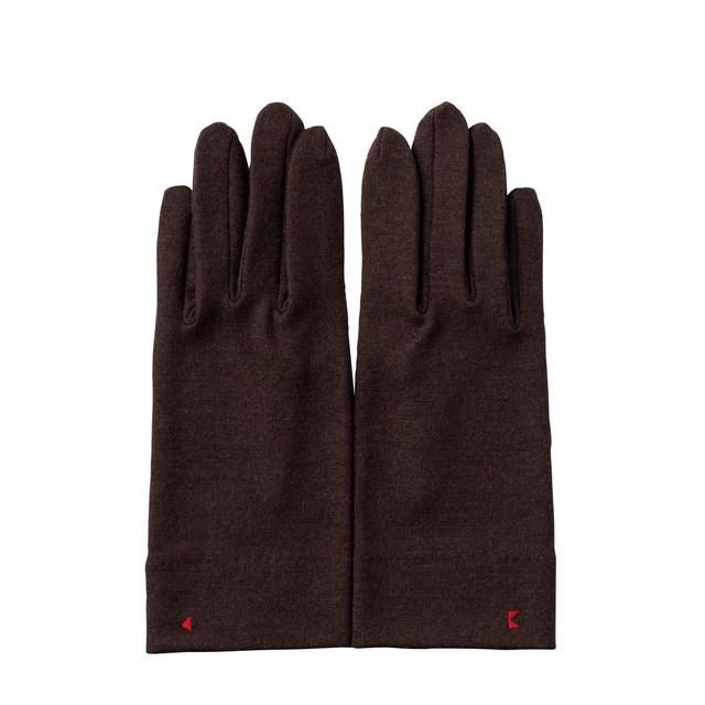 【手袋】115 チョコ/ウール100%/手が細くキレイに見える