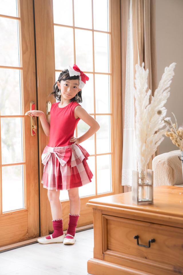 【NEW】BELLE DRESS RED SAVANNA CHECK