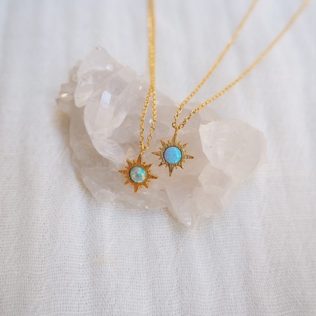Opal Necklace《BLU/GRN》19385174