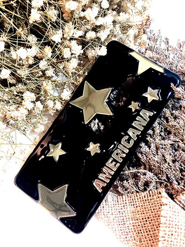 星柄 ベースカラーブラック♪夜空のケース♪