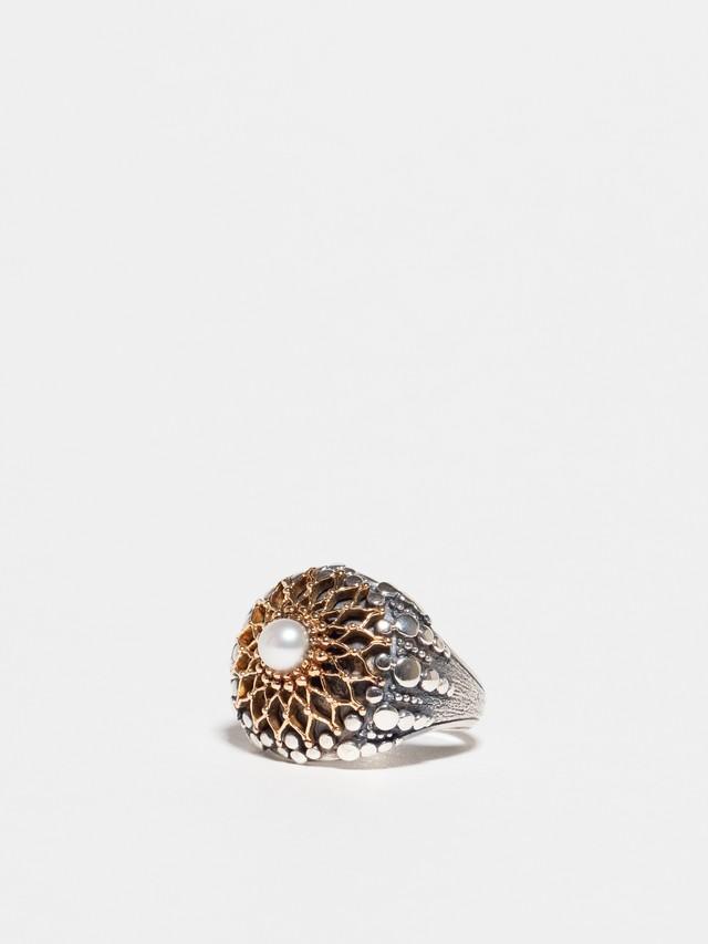 Byzantine Pearl Ring / Gerochristo