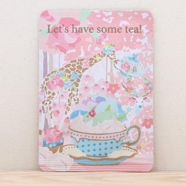 Let's have some tea!|ホラグチカヨさんのイラストと和紅茶のコラボ|ごあいさつ茶